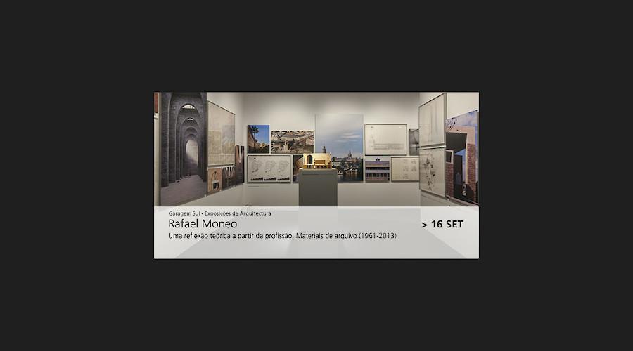 Exposição de arquitetura: Rafael Moneo